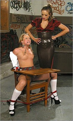 alexa von tess gets a rough treatment at chantas bitches